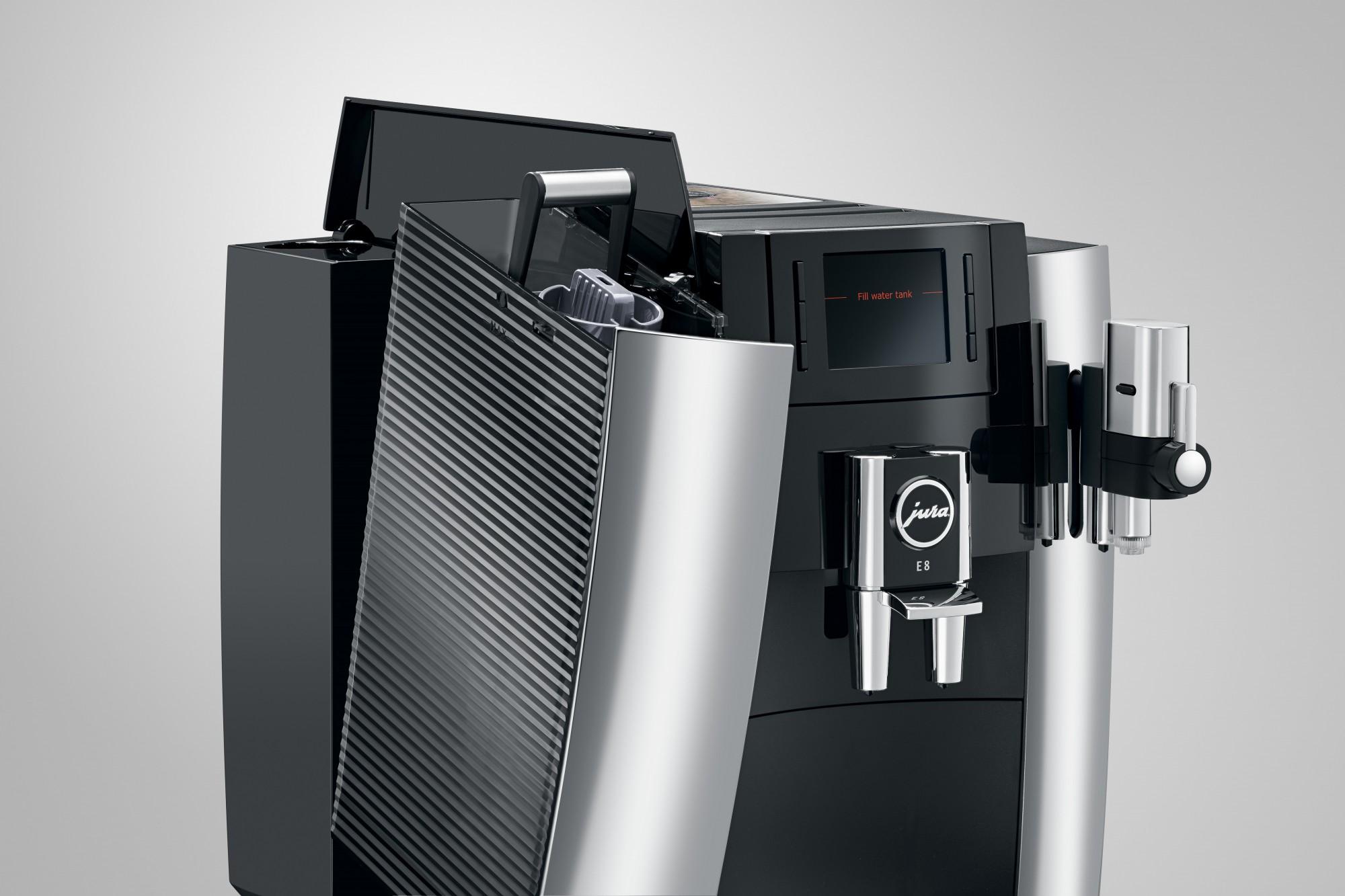 Jura E8 koffiemachine kleur chroom