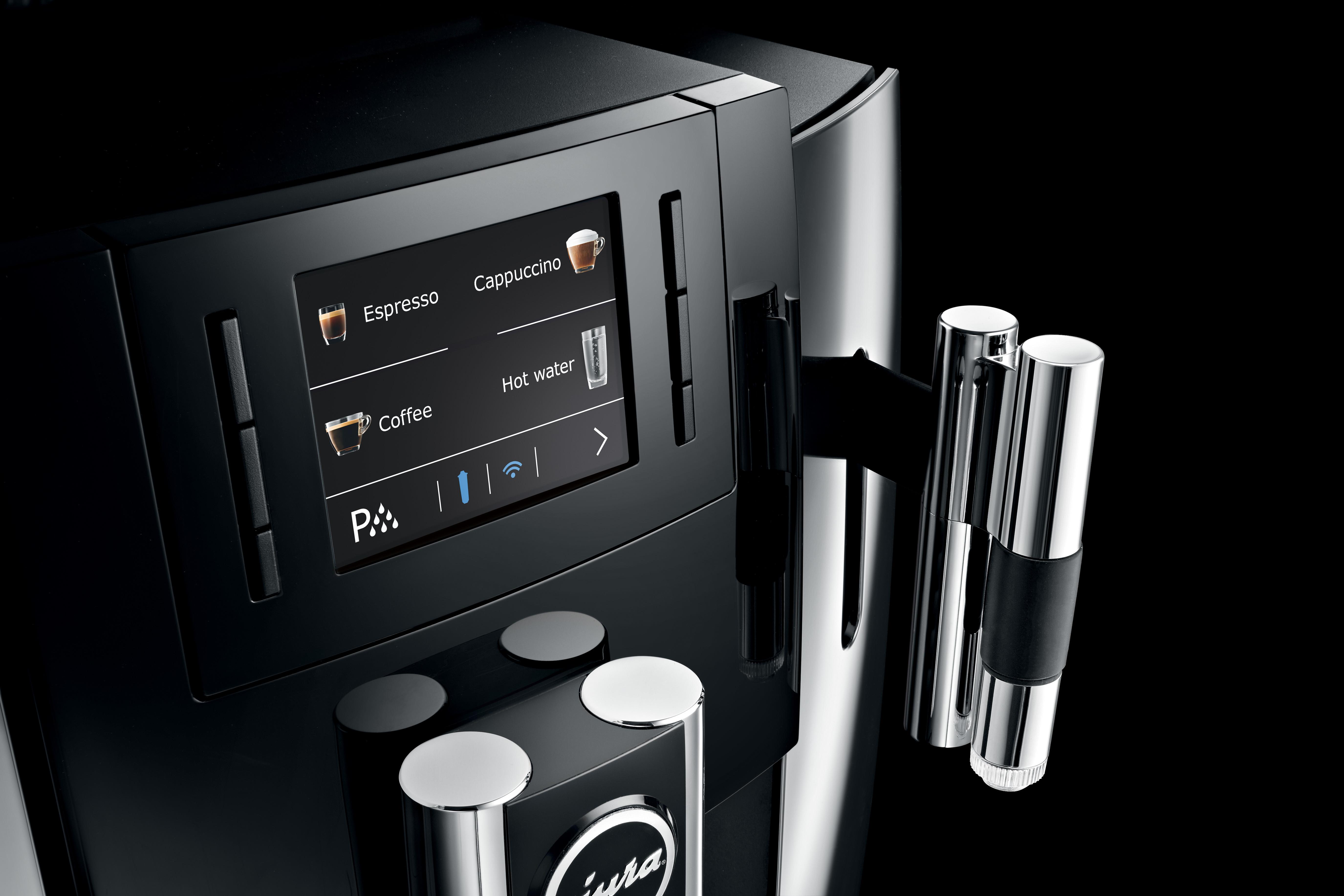 Zakelijke koffiemachine met eenvoudig te bedienen kleurenscherm