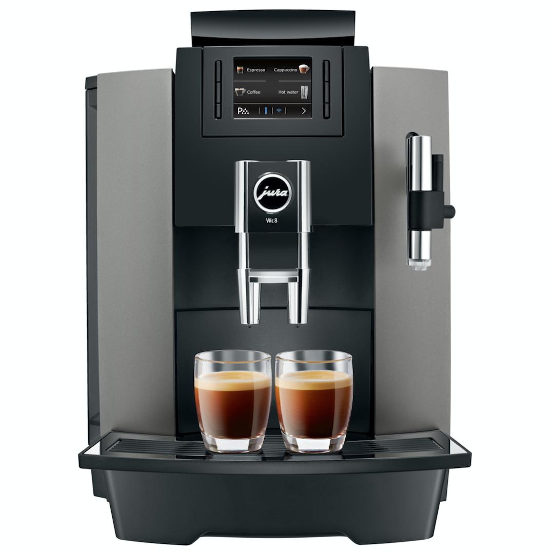 Koffiemachine voor op het werk | De Jura WE8 Dark Inox