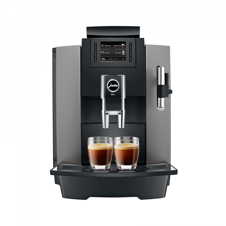 Bestel de Jura WE8 Dark Inox espressomachine bij Pure Africa