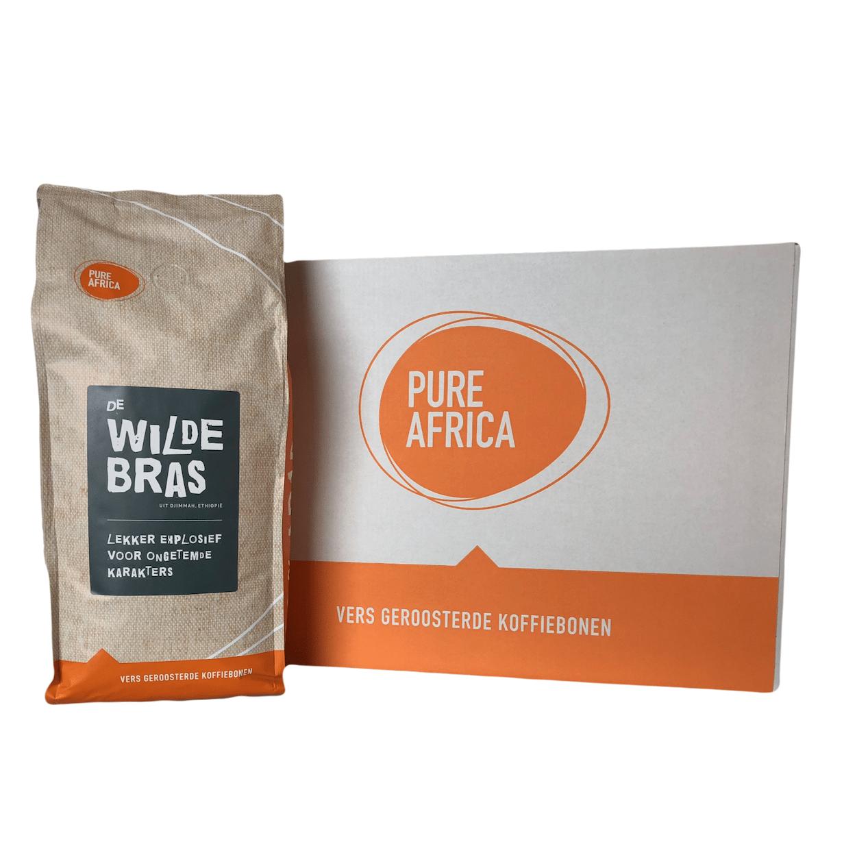 Doos Arabica koffiebonen van Pure Africa uit Ethiopie