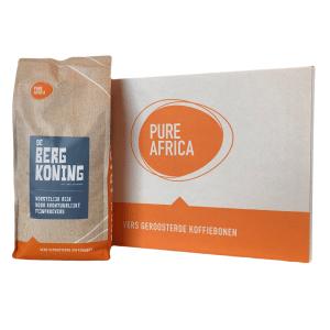 Doos koffiebonen Pure Africa Bergkoning | 8 x 1.000 gram