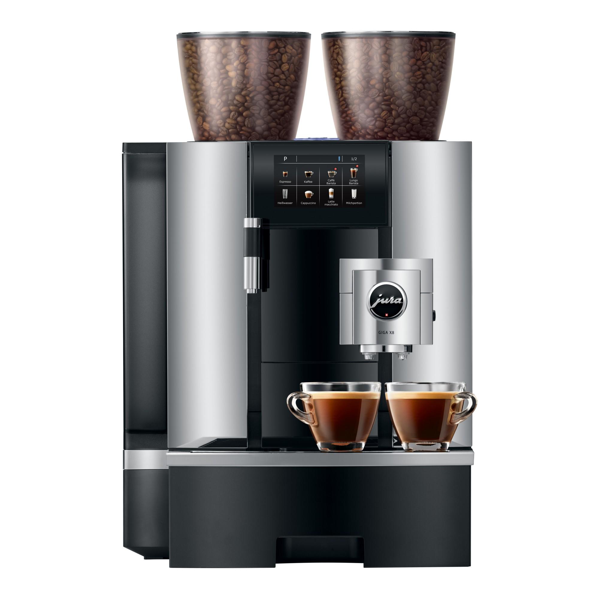 Twee koffie tegelijkertijd met Jura GIGA X8