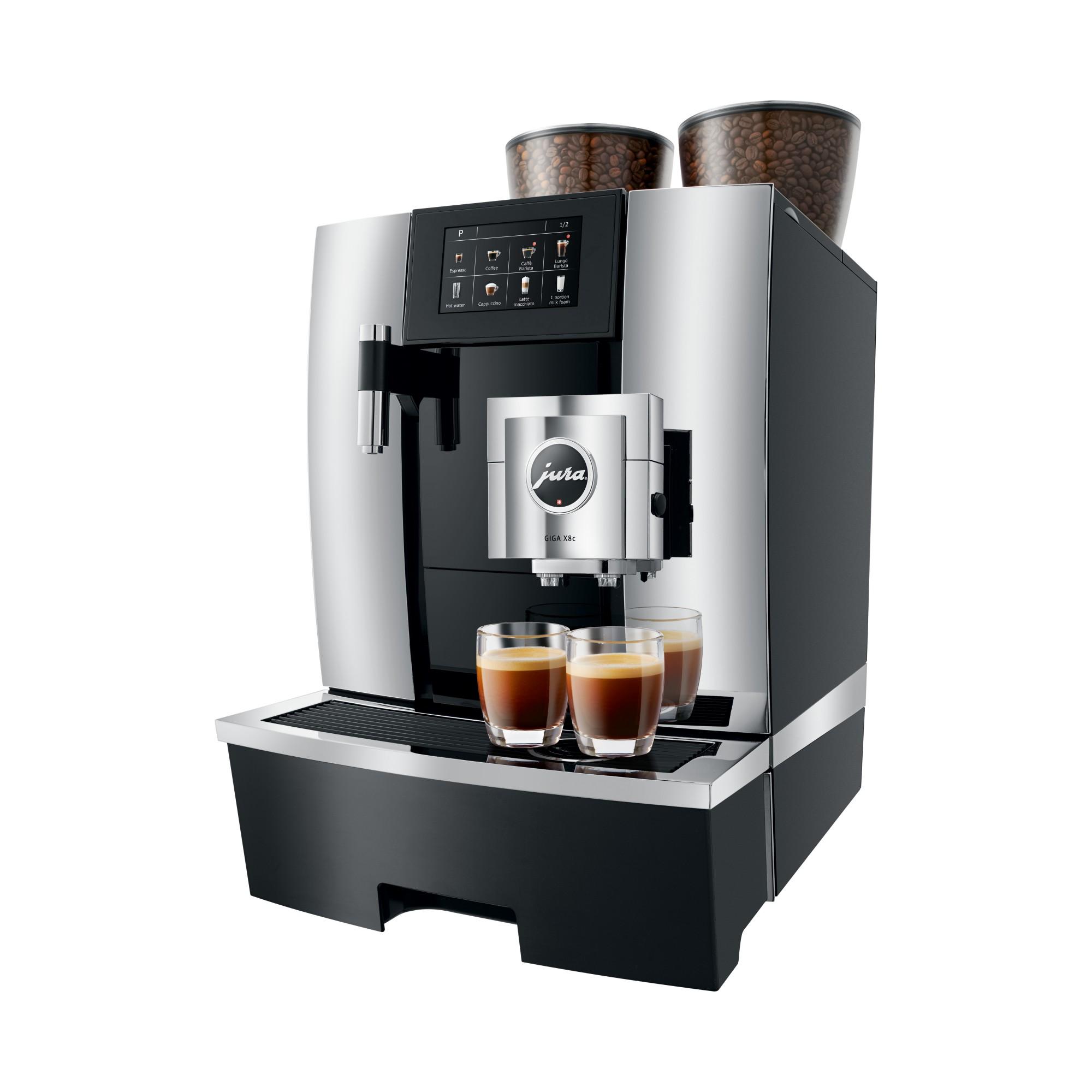 Zet twee espresso tegelijkertijd