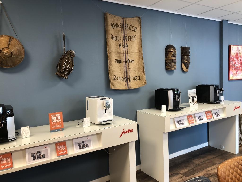 Showroom Jura koffiemachines en Pure Africa Coffee