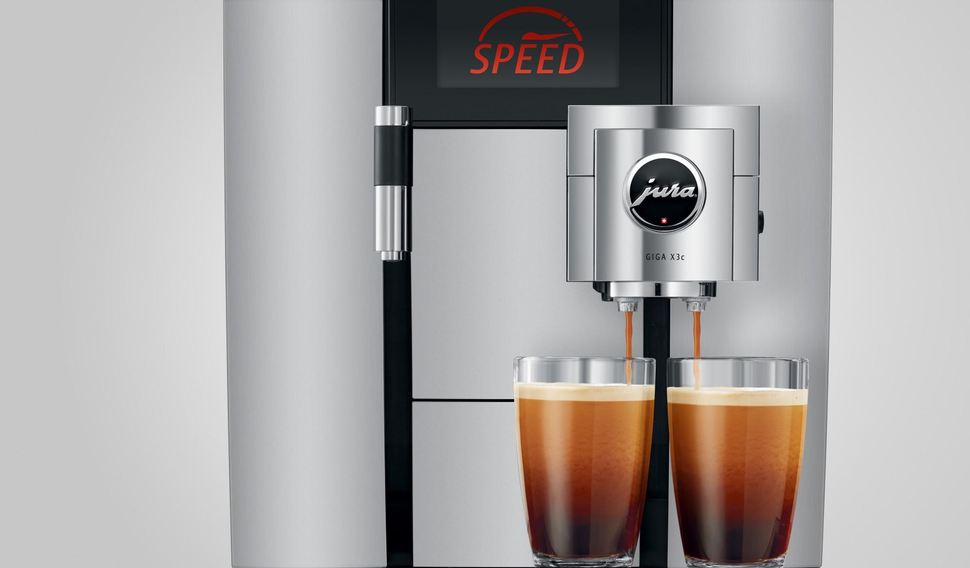 Hoge kwaliteit cafe americano met de speedfunctie van Jura
