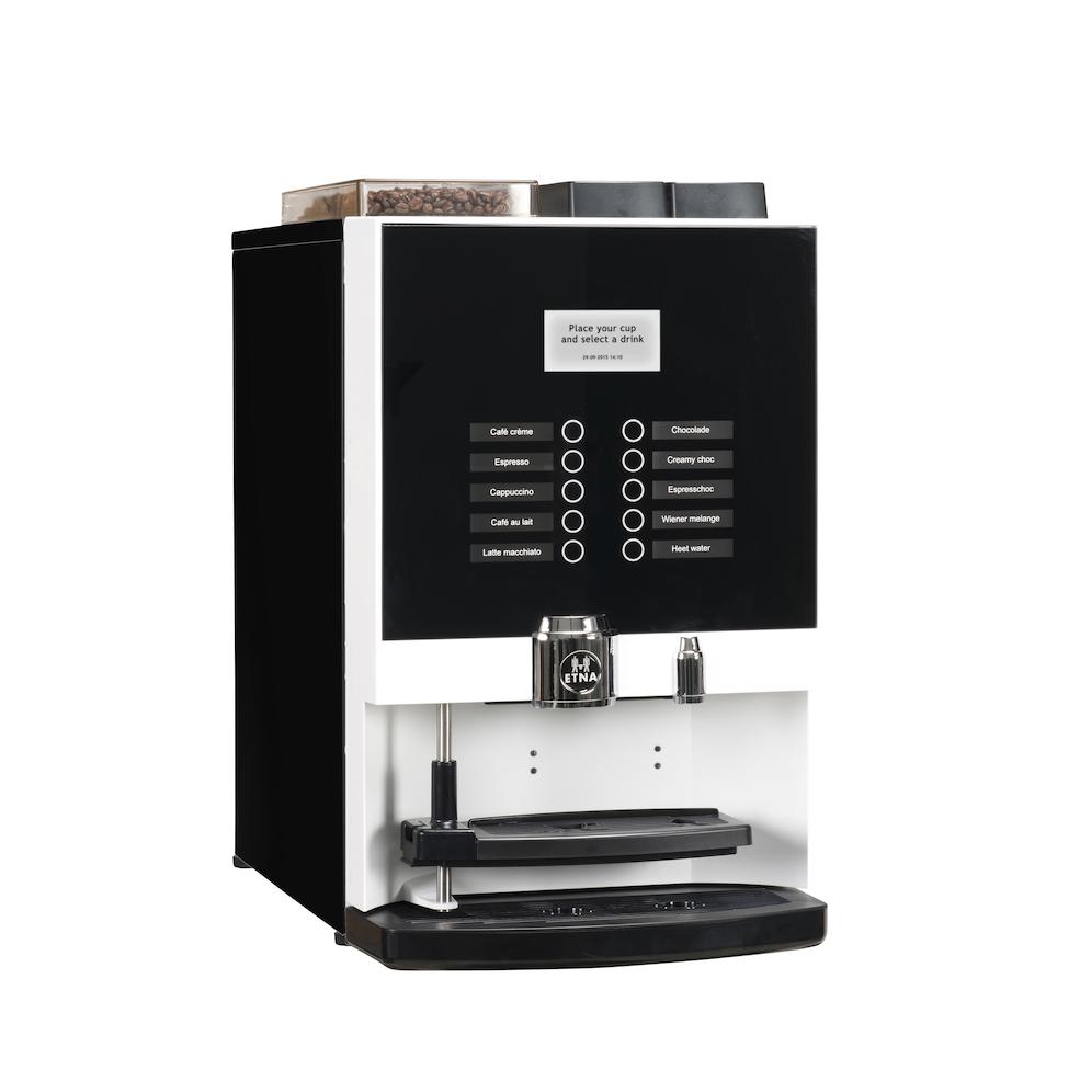 Compacte koffiemachine voor zakelijk gebruik